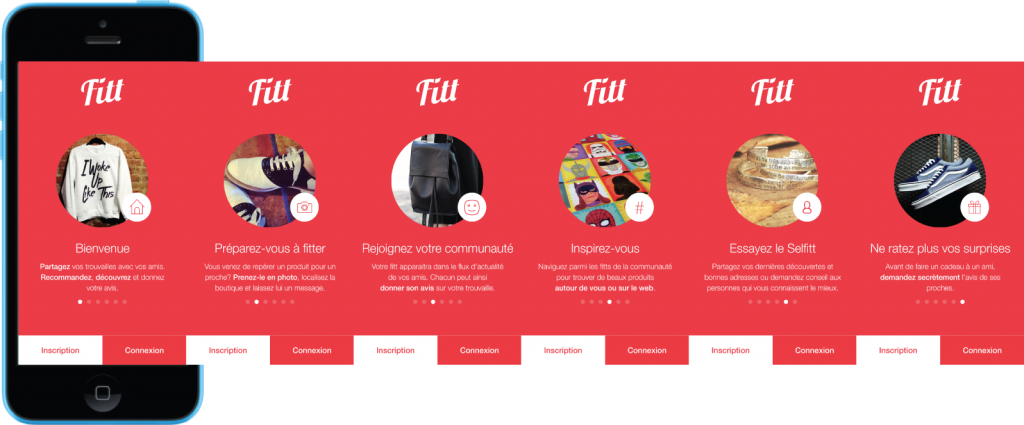 Fitt application social shopping