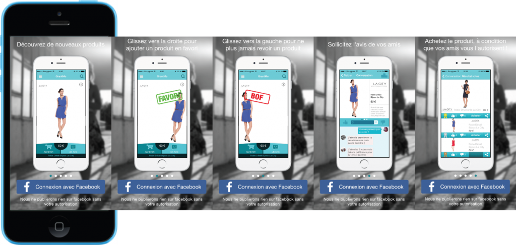 GrantMe application social shopping